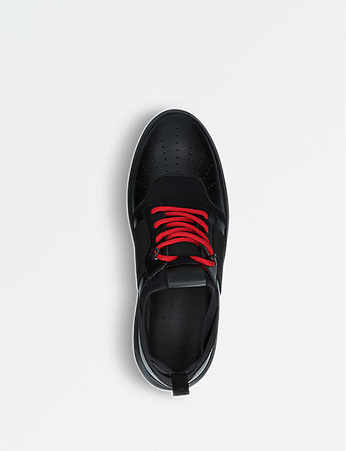 HOGAN Helix H341 leather and neoprene trainers