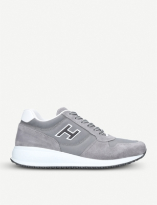 HOGAN Interative N20 suede and mesh trainers