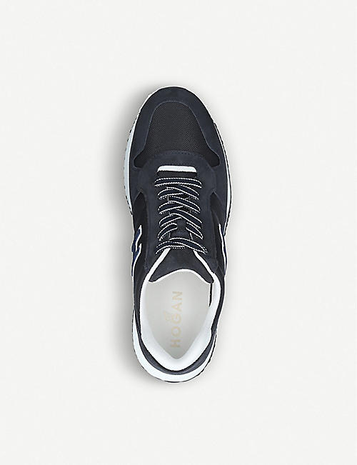HOGAN Interactive N20 suede and mesh trainers
