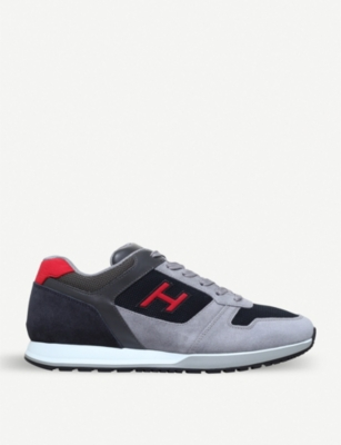 HOGAN H321 suede and mesh trainers