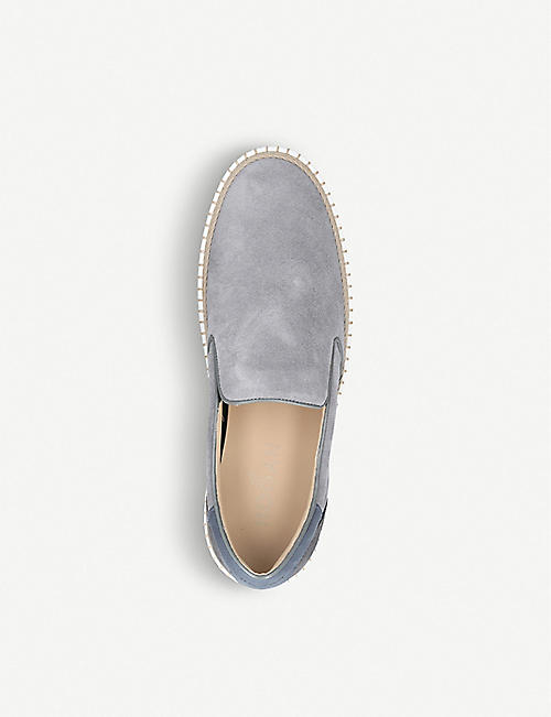 HOGAN Espadrille skate suede and leather shoes