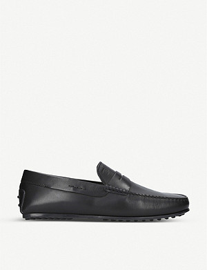 TODS City leather driver loafers