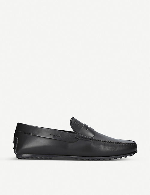 TODS: City leather driver loafers