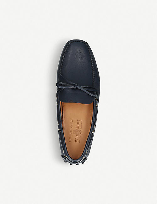 TODS Pebbled-leather driving shoes