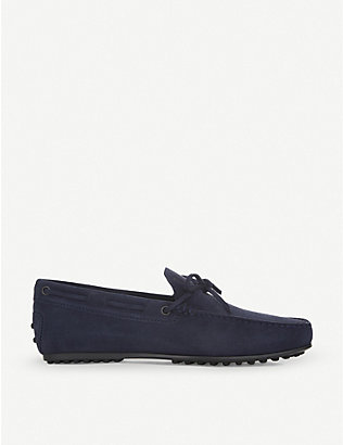 TODS: City driver suede driving shoes