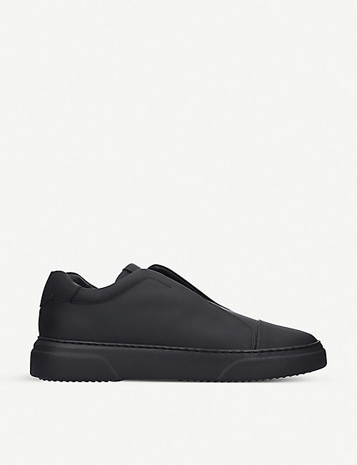 HARRYS LONDON Tube leather slip-on trainers