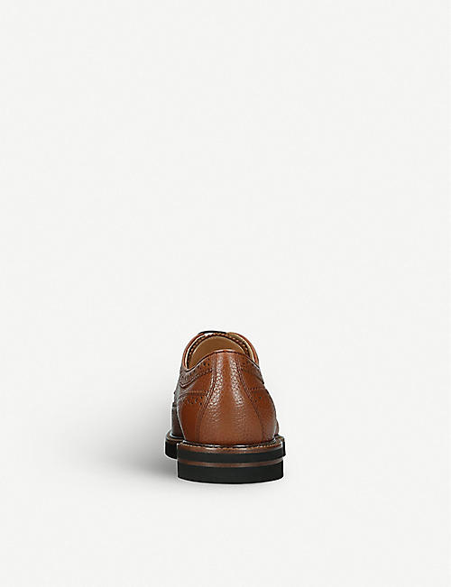 TODS Grained-leather derby shoes