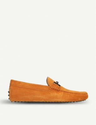 TODS Gommino Double T suede driving shoes