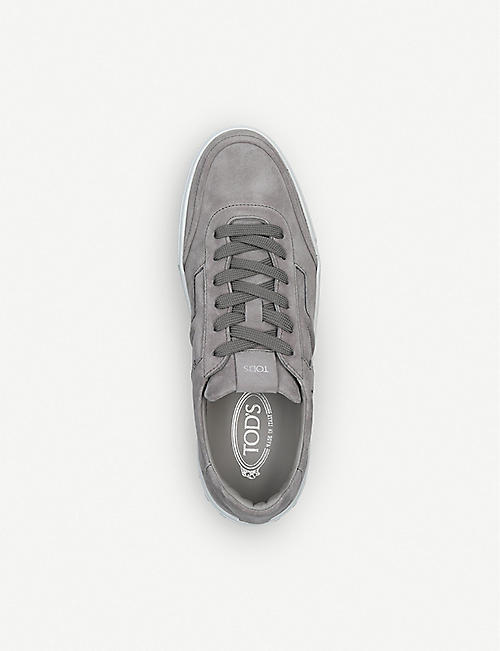 TODS Embossed logo suede trainers