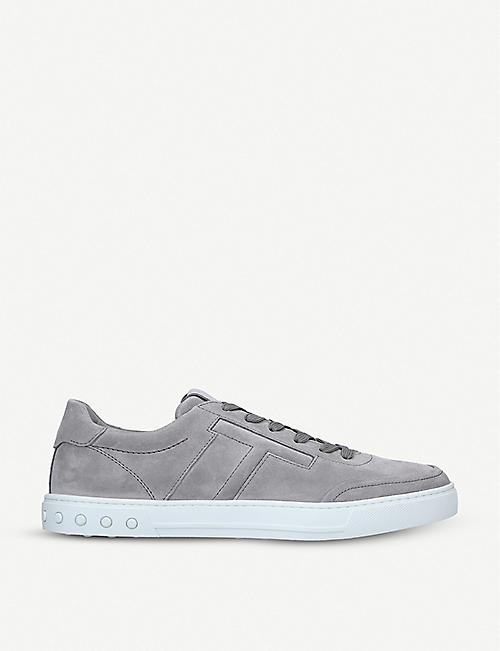 61ce3476040ab3 TODS Embossed logo suede trainers