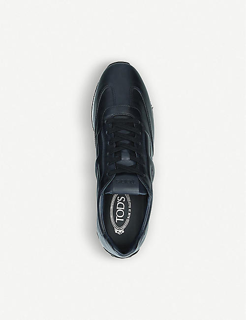 TODS Embossed logo leather runner trainers