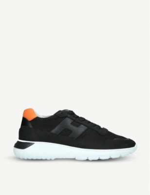 HOGAN Interactive mesh and leather trainers