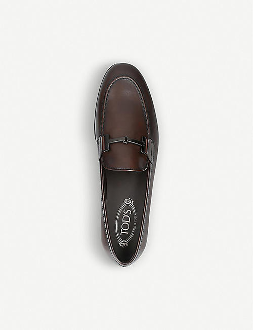 TODS Double T leather loafers