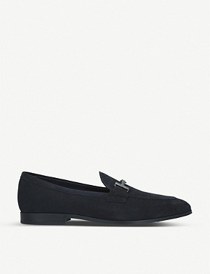 TODS Double T suede loafers