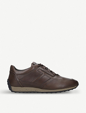 TODS Sportivo 78 leather and suede trainers