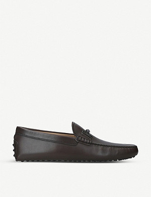 TODS Double T leather driving shoes