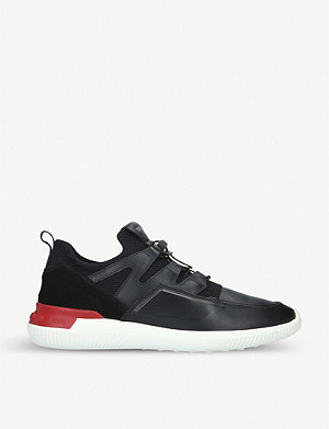 TODS No_Code leather and mesh trainers