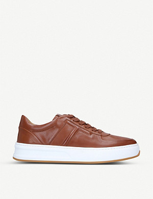 TODS Cassetta leather platform trainers