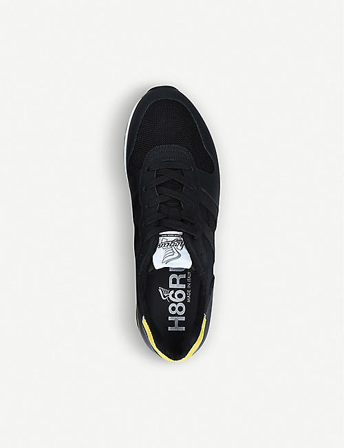 HOGAN H383 rubber-effect leather trainers