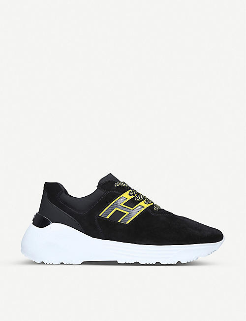 HOGAN Active 1 suede and leather trainers