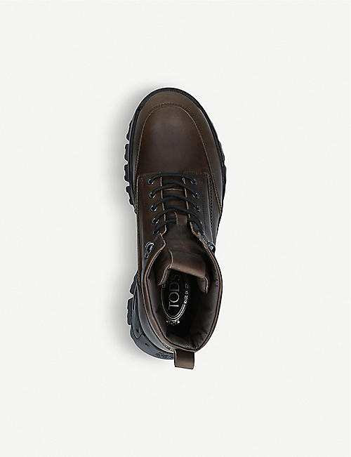 TODS Mountain leather ankle boots