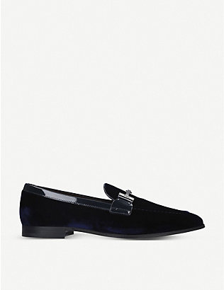TODS: Double T velvet loafers
