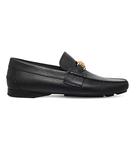 86ea7306b32 VERSACE Medusa leather penny loafers (Blk other