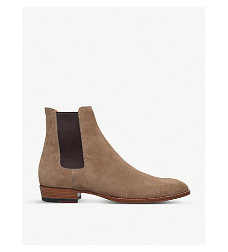 ... SAINT LAURENT Wyatt suede Chelsea boots (Taupe. PreviousNext 57ad4e604