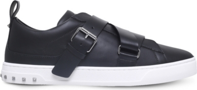 VALENTINO V-punk leather trainers