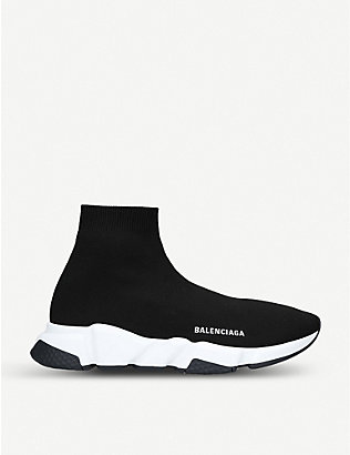 BALENCIAGA: Speed woven mid-top trainers