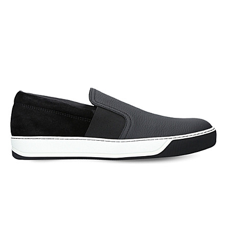 8505e3b570f LANVIN - Two-tone leather and suede skate shoes | Selfridges.com