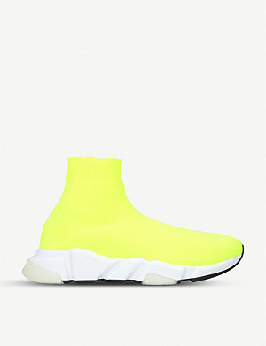 BALENCIAGA Mens Speed knit mid-top trainers