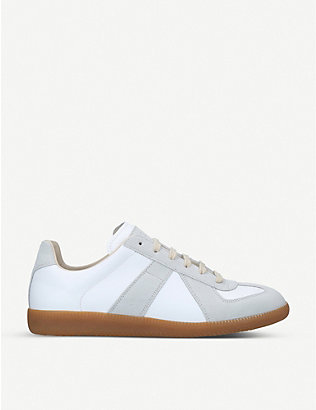 MAISON MARGIELA: Replica leather and suede trainers