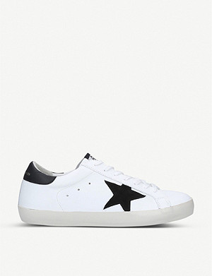 GOLDEN GOOSE Superstar low-top leather and suede trainers