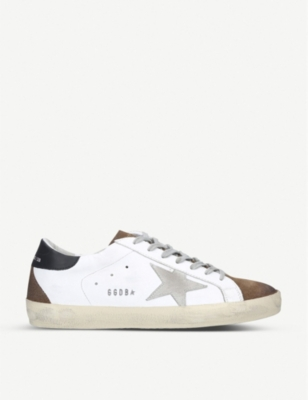 Superstar leather and suede trainers - Beige comb