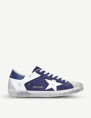 GOLDEN GOOSE Superstar leather and suede trainers
