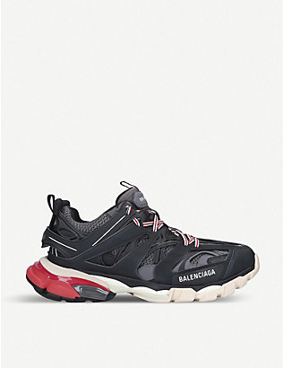 BALENCIAGA: Track nylon and mesh trainers