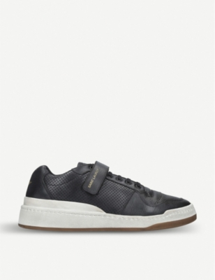 SAINT LAURENT Travis leather trainers