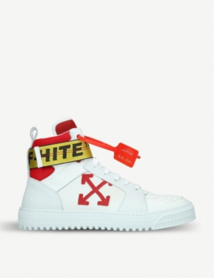 OFF-WHITE C/O VIRGIL ABLOH Industrial Belt leather high-top trainers