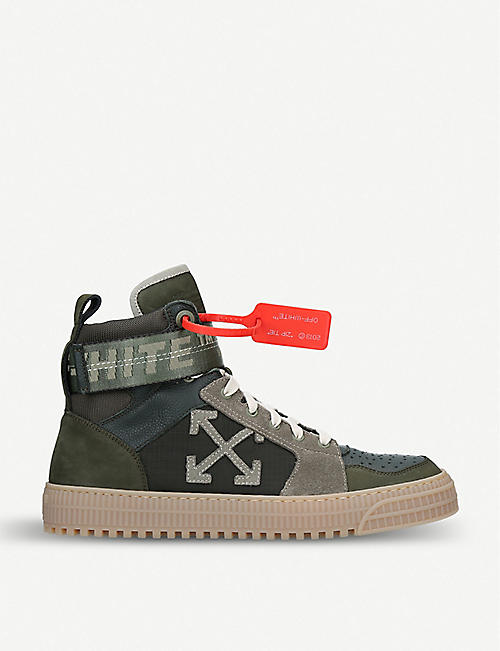 57342d9372f0 OFF-WHITE C O VIRGIL ABLOH Industrial Belt leather high-top trainers