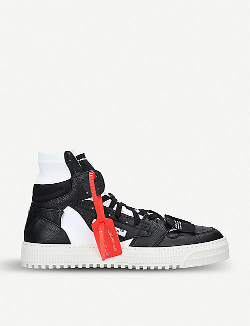 b4eb60f91a3d OFF-WHITE C O VIRGIL ABLOH Off-court leather high top trainers