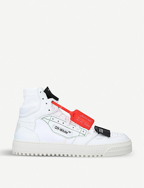 OFF-WHITE C/O VIRGIL ABLOH Off-court leather high top trainers