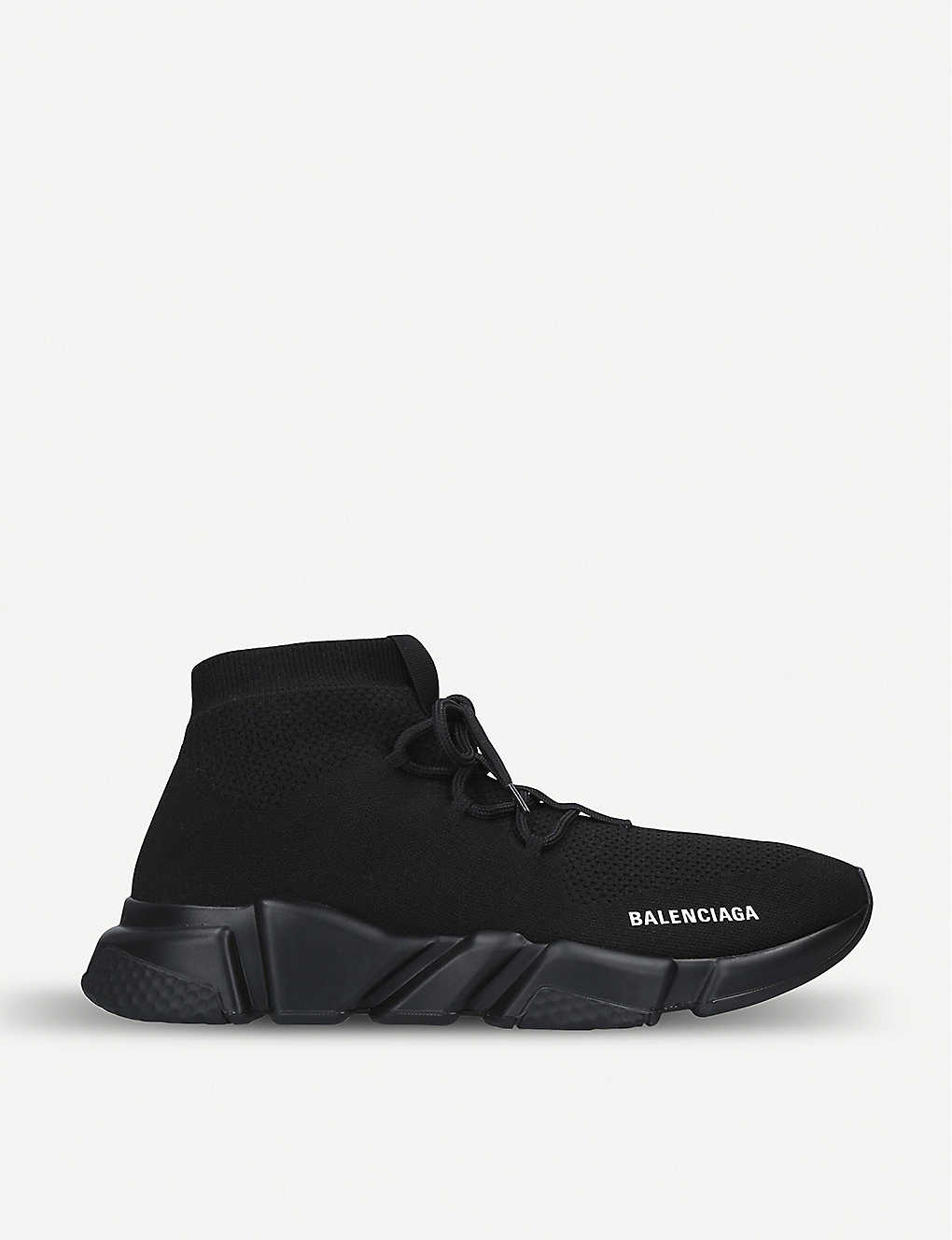 149c658d299f BALENCIAGA - Speed knit lace-up mid-top trainers