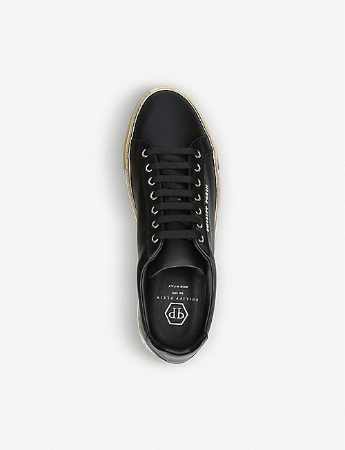 PHILIPP PLEIN Logo leather trainers