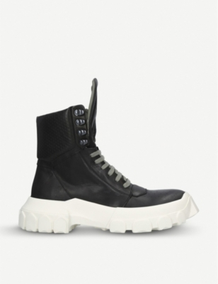 RICK OWENS Tractor Hiking leather boots