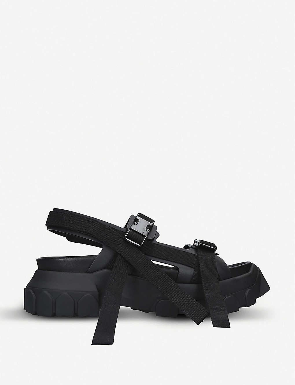 ace5faa5a RICK OWENS - Tractor leather sandals | Selfridges.com