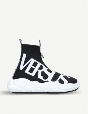 VERSUS Logo running sock trainers