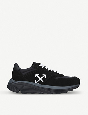 OFF-WHITE C/O VIRGIL ABLOH Jogger Runner suede and shell trainers