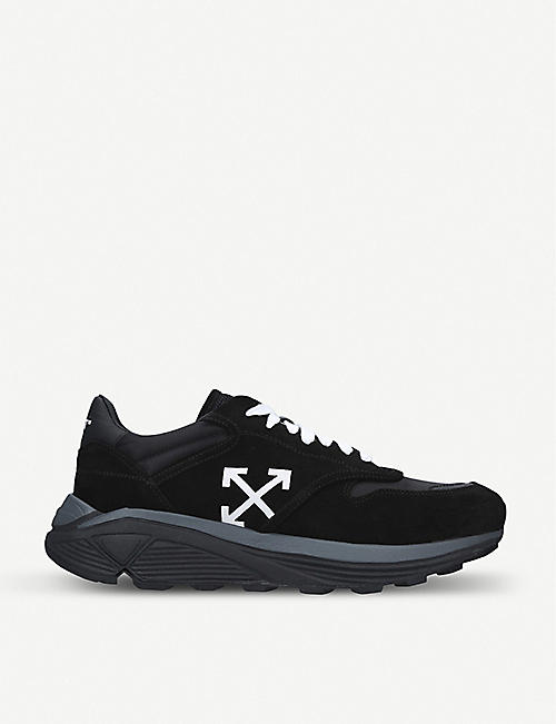 bb77749d7752a OFF-WHITE C O VIRGIL ABLOH Jogger Runner suede and shell trainers