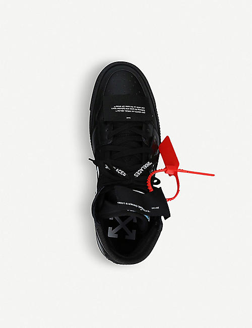 OFF-WHITE C/O VIRGIL ABLOH Off-Court high-top suede and leather trainers